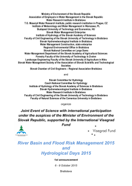 River Basin and Flood Risk Management 2015 and Hydrological