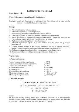 Laboratórne cvičenie č.1