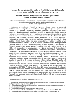 Karbonická anhydráza IX v nádorových léziách prsnej