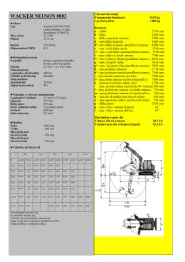 Technické parametre WN 8003 Súbor na stiahnutie