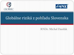 Globálne riziká z pohľadu Slovenska
