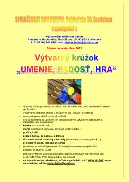 SPOLOČENSKY DOM PRIEVOZ, Kaštieľska 30, Bratislava