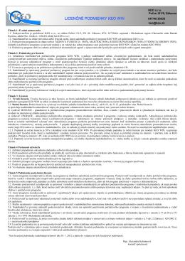 Licenčné podmienky KEO WIN od 2012
