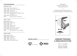 odborný program 8. rinologických dní