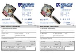 Objednávka stánku alebo stola na BZD 2013