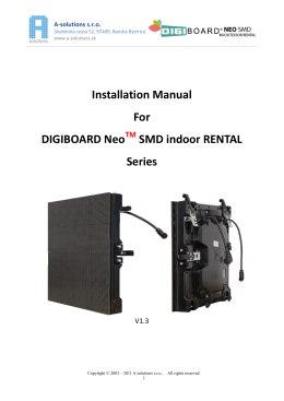 Installation Manual For DIGIBOARD Neo SMD indoor - A