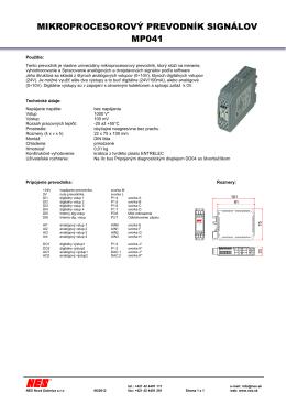 mikroprocesorový prevodník signálov mp041