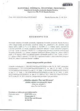 rozhodnutie IPKZ z 21.08.2014