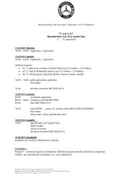 Program podujatia - Mercedes