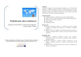 Sylaby vzdelávacieho programu