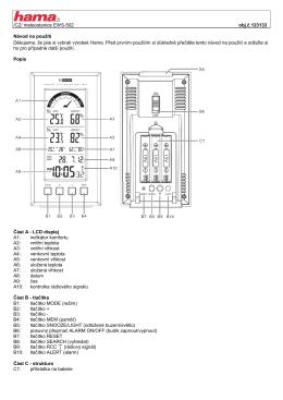 /CZ/ meteostanice EWS-502 obj.č.123133 Návod na použití