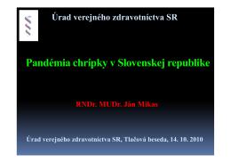 Pandémia chrípky SR - RÚVZ-DS