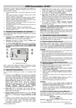 JA-82Y GSM Komunikátor