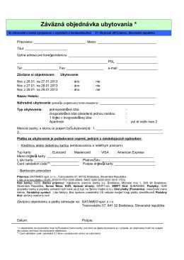 Tlačená (pdf) rezervácia