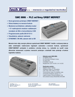 OMC 8000 - PLC od firmy ORBIT MERRET