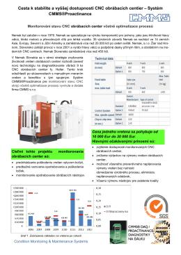Projekt vibračnej diagnostiky CMMS CSSK 230713