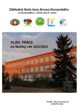 Plán práce 2012-2013