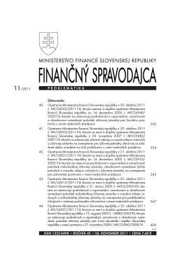 Finančný spravodajca 11/2011