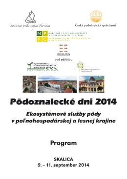 Pribudol program konferencie Pôdoznalecké dni 2014.