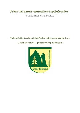 Urbár Terchová –pozemkové spoločenstvo