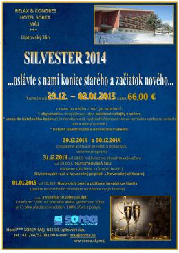 Termín od 29.12. – 02.01.2015 cena 66,00 €