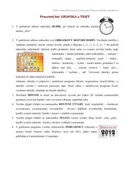 Pracovný list: GRAFIKA a TEXT - Gymnázium Štefana Moysesa
