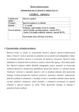 Školský vzdelávací program - Základná škola Ulica Ing. O. Kožucha 11