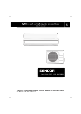 Split type wall and wall-mounted air-conditioner