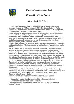 Július Koreszka - bibliografický leták