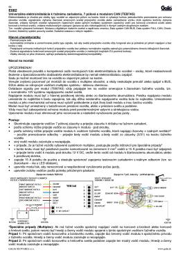 Návod E082 SK/EN.pdf - Ťažné zariadenia GALIA