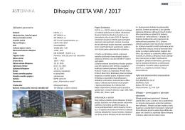 Dlhopisy CEETA VAR / 2017