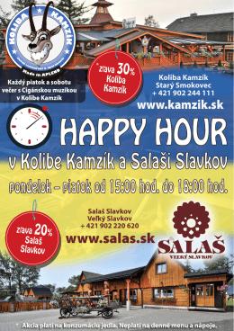 inzercia_Happy hour v Kolibe Kamzik a Salasi Slavkov