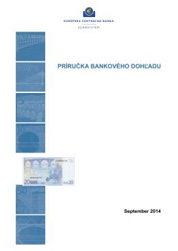 Príručka bankového dohľadu - ECB Banking Supervision
