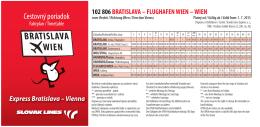 FLUGHAFEN WIEN - Letisko Bratislava (BTS)