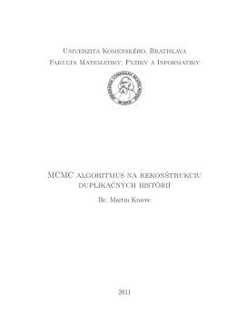 MCMC algoritmus na rekon²trukciu duplika£ných histórií
