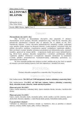Hlásnik 03/2012