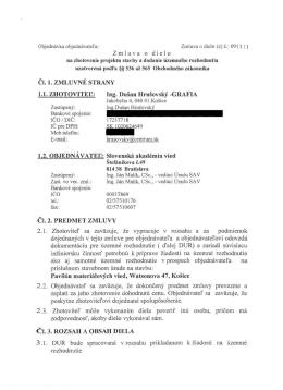 Zmluva o dielo Čl. l. ZMLUVNÉ STRANY E