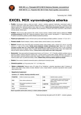 EXCEL MIX vyrovnávajúca stierka