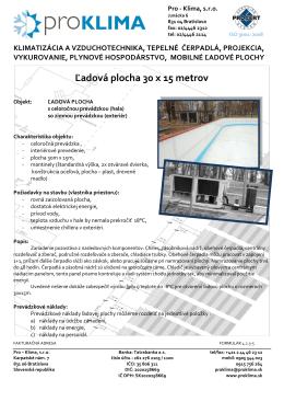 Ľadová plocha 30 x 15 metrov - Pro