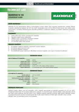 technický list makroflex ta 145