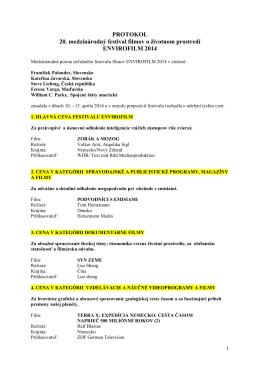 Protokol Envirofilm 2014