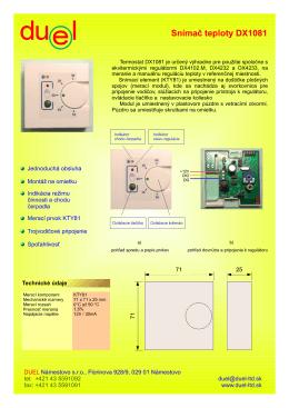 Snímač teploty DX1081