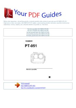 Návod na používanie OLYMPUS PT-051