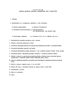 17. apríla 2014 - Aktuality obce Ladce