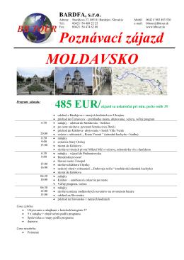 Poznávací zájazd MOLDAVSKO