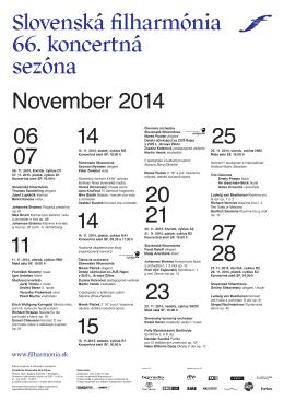 0706. 11. 2014, štvrtok, cyklus D1 07. 11. 2014, piatok, cyklus D1