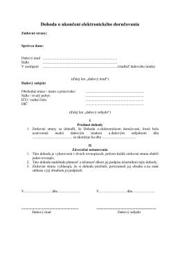 Dohoda o ukončení elektronického doručovania
