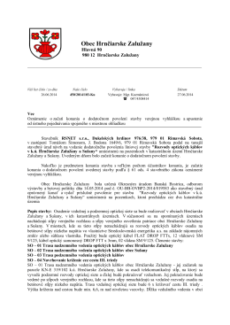 RSNET s.r.o RS-dodatočné povolenie- začatie konania