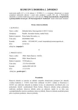 249182013 - ZŠ Starozagorská 8, Košice
