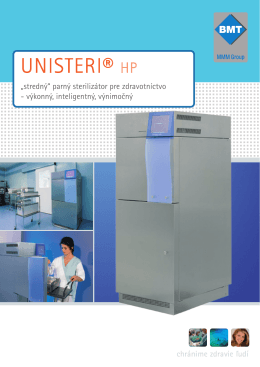 UNISTERI® HP - BMT Medical Technology sro